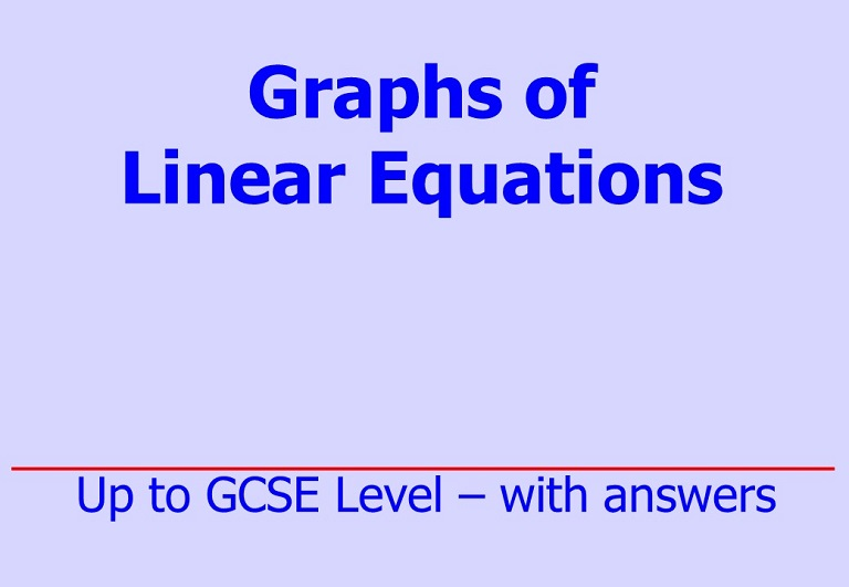 Downloadable questions up to GCSE Level on graphs of the form y= mx + c by Irby Maths