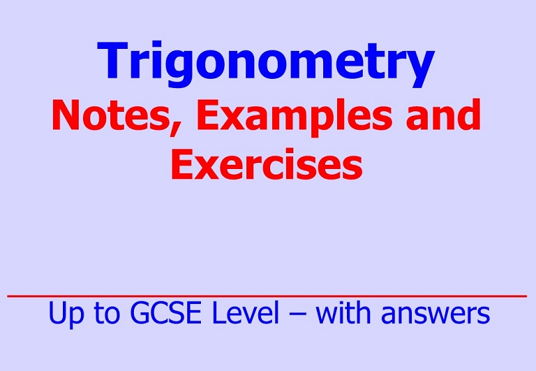 Downloadable notes, worked examples and questions on trigonometry by Irby Maths