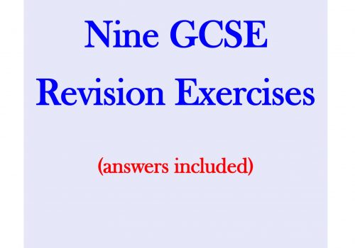 GCSE Maths Revision Exercises - 9 revision exercises on miscellaneous topics