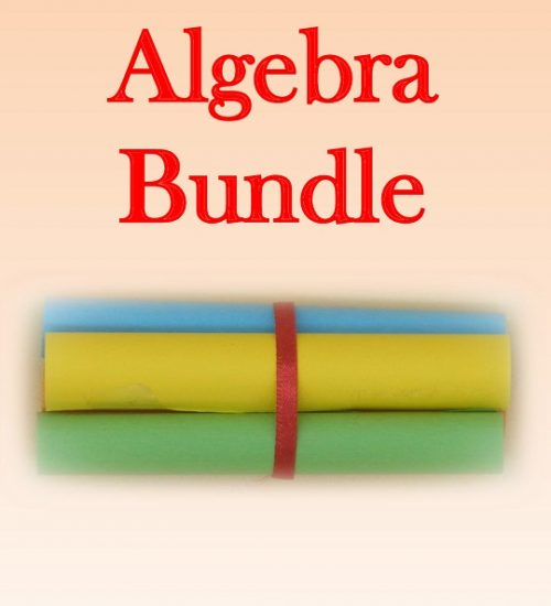Algebra Bundle consisting of Algebraic Expressions (Meaning and Simplification), Substitution of Numbers into Algebraic Expressions, Solving Equations and Solving Simultaneous Equations Using the Elimination Method