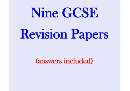 Nine Maths GCSE Revision Papers