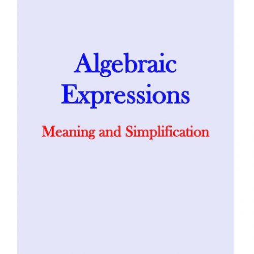 Algebraic Expressions - Meaning and Simplification